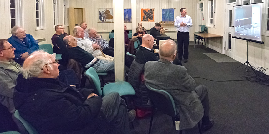 A recent meeting at the Farnborough and District Radio Society